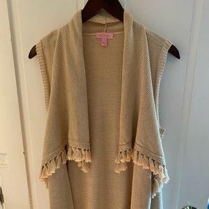 Lilly Pulitzer Sleeveless Draped Sweater